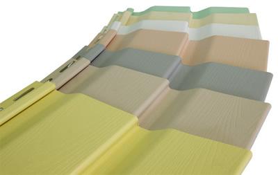 Разнообразие цветовой гаммы винилового сайдинга