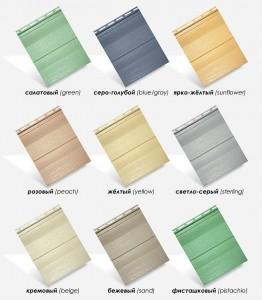 Цветовая гамма канадского сайдинга Royal