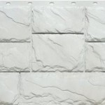 Фасадная панель Fineber крупный камень белый