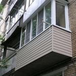 Отделка балкона и лоджии сайдингом