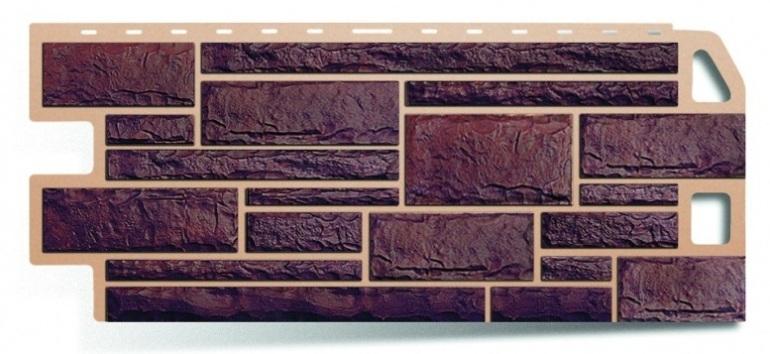 Фасадная панель Альта Профиль камень цвет жженый