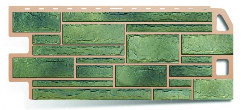 Фасадная панель Альта Профиль камень цвет малахит
