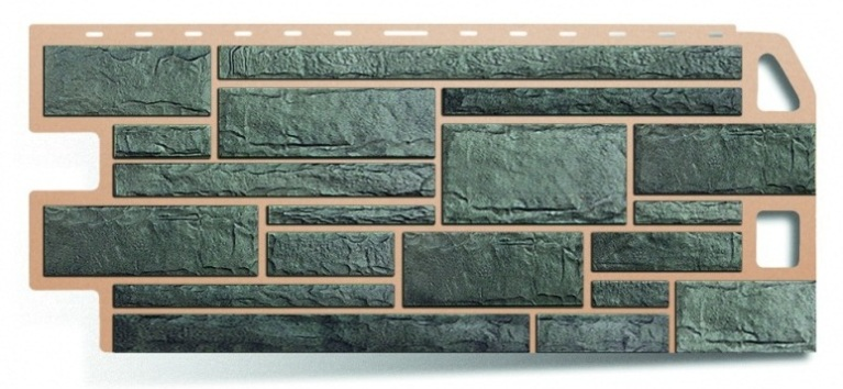 Фасадная панель Альта Профиль камень цвет серый