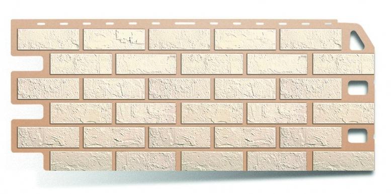Фасадная панель Альта Профиль кирпич цвет белый