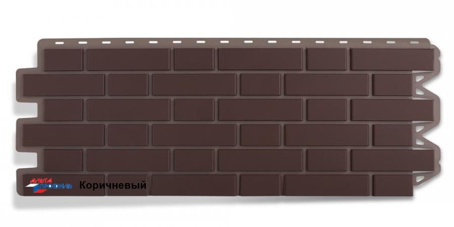 Цокольный сайдинг Альта профиль коллекция Клинкерный кирпич цвет коричневый