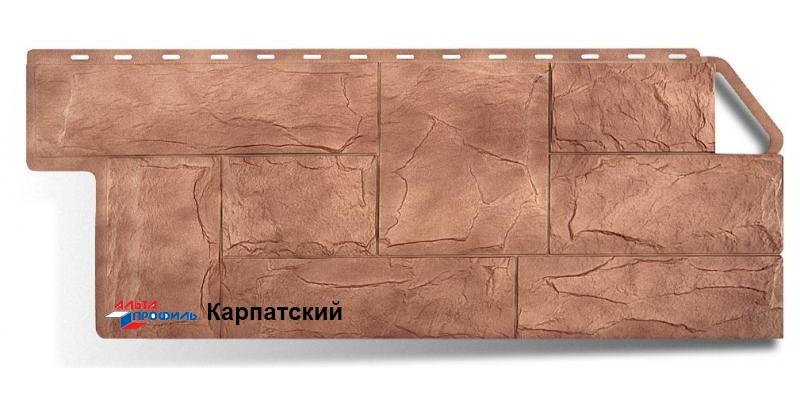 Цокольный сайдинг Альта профиль коллекция Гранит цвет карпатский