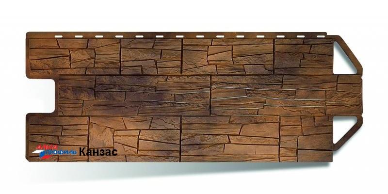 Цокольный сайдинг Альта профиль коллекция Каньон цвет канзас