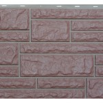 Фасадная панельVox камень цвет хамелеон красный