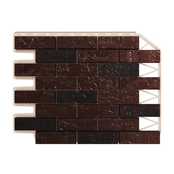 Цокольный сайдинг Хольцпласт Кирпич темно-коричневый