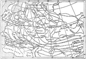 Карта промерзания грунтов