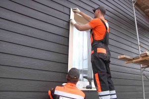 Стоимость фасадных работ по возведению вентилируемого фасада фиброциментными панелями