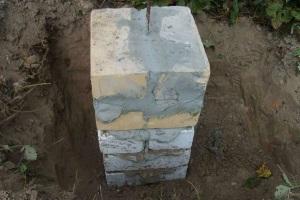 столбчатый фундамент в виде кладки