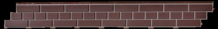 Цокольный сайдинг кирпич коричневый