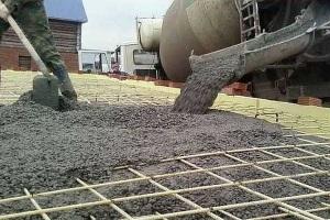 Качественный бетон из гравия мелкой фракции.