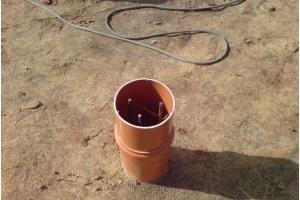 Столбчатый  фундамент из труб ПВХ своими руками
