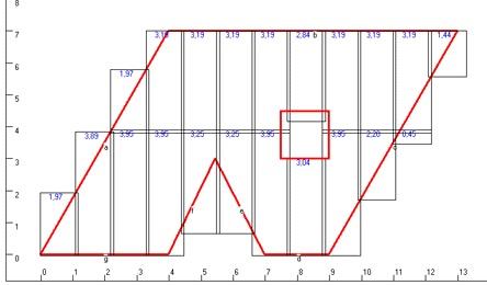 Расчет количества металлочерпицы сложных скатов.
