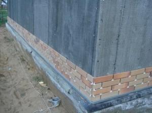 Выравнивание стен для отделки клинкером