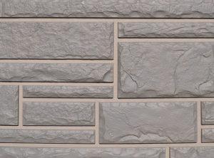 Цокольный сайдинг Nailite серии тесанный камень цвет серый (Canyon Grey)