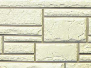 Цокольный сайдинг Nailite серии тесанный камень цвет белый (Glacier White)