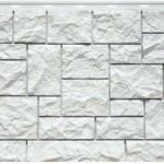 Фасадная панель дикий камень белый Fineber