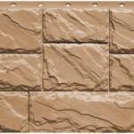 Фасадная панель Fineber крупный камень терракотовый