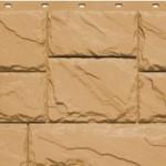 Фасадная панель Fineber крупный камень песчаный
