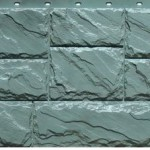 Фасадная панель Fineber крупный камень серый