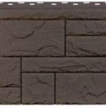 Фасадная панель Fineber камень коричневый