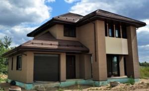 Отделка фасада дома фиброцементными панелями (японским сайдингом)