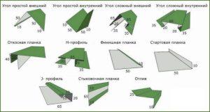 Доборные элементы металлического сайдинга Металл профиль