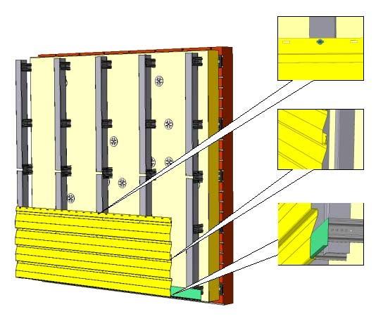 Монтаж панелей металлосайдинга