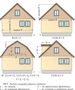 Формуля для расчета сайдинга и комплектующих на фасад