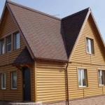 Отделка фасада дома под бревно - выбор производителя