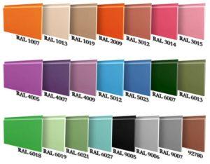 Палитра цвета алюминиевых панелей Алюкобонд