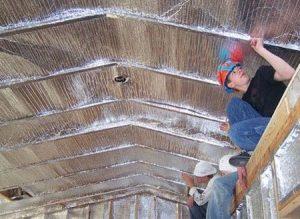 Утепление мансардной крыши деревянного дома