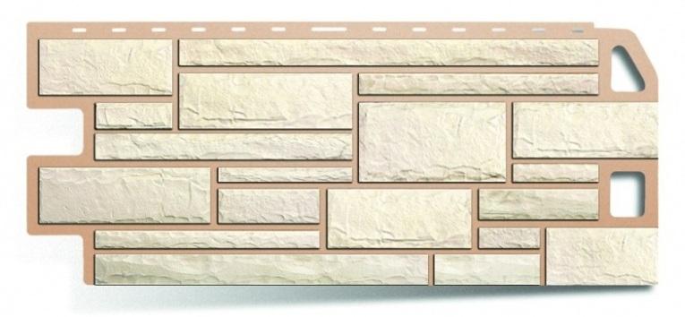 Фасадная панель Альта Профиль камень цвет белый