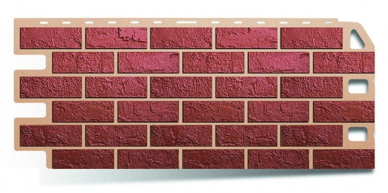 Фасадная панель Альта Профиль кирпич цвет красный