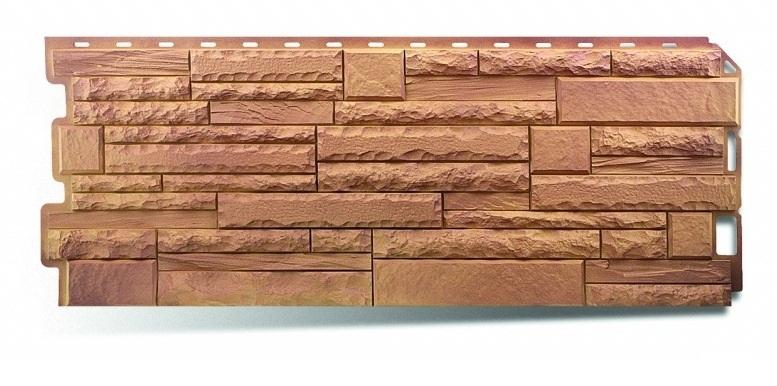 Фасадная панель Альта Профиль скалистый камень цвет памир