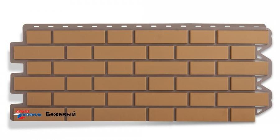 Цокольный сайдинг Альта профиль коллекция Клинкерный кирпич цвет бежевый