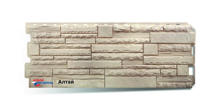 Фасадная панель Альта Профиль скалистый камень цвет алтай