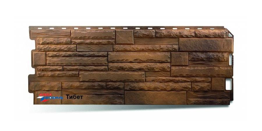 Фасадная панель Альта Профиль скалистый камень цвет тибет