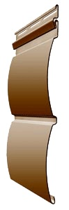 Панель сайдинга Docke блок хаус цвет карамель