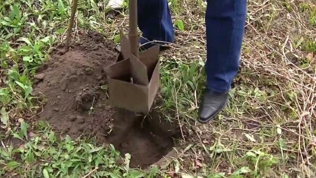 Выкапывание небольших ямок