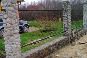 столбчатый фундамент из бутового камня