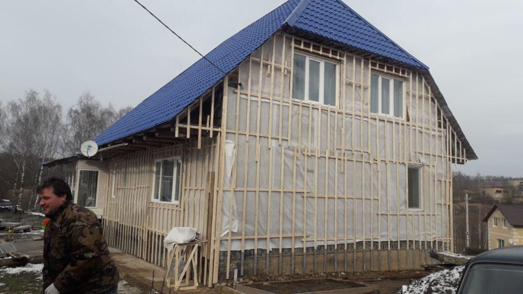 Подготовка к отделки фасада дома фасадными панелями