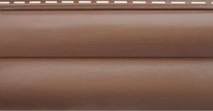 Блокхаус Акриловый сайдинг Престиж, красно-коричневый ВН-02
