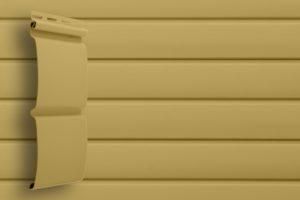 Классический сайдинг Гранд Лайн Блок-хаус цвет Карамельный