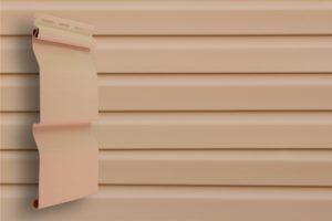 Классический сайдинг Гранд Лайн Корабельная доска цвет Персиковый