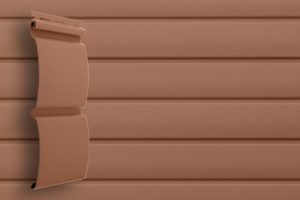 Классический сайдинг Гранд Лайн Блок-хаус цвет Темно-бежевый