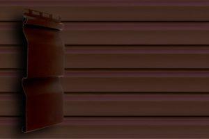 Акриловый сайдинг Гранд Лайн Корабельная доска цвет Темный Дуб